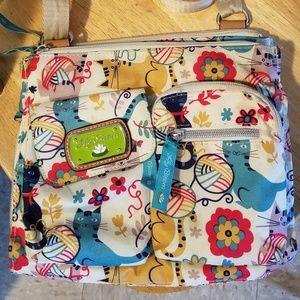 Adorable Lily Bloom kitty crossbody bag